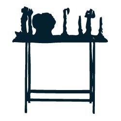Silhouette of sculpture