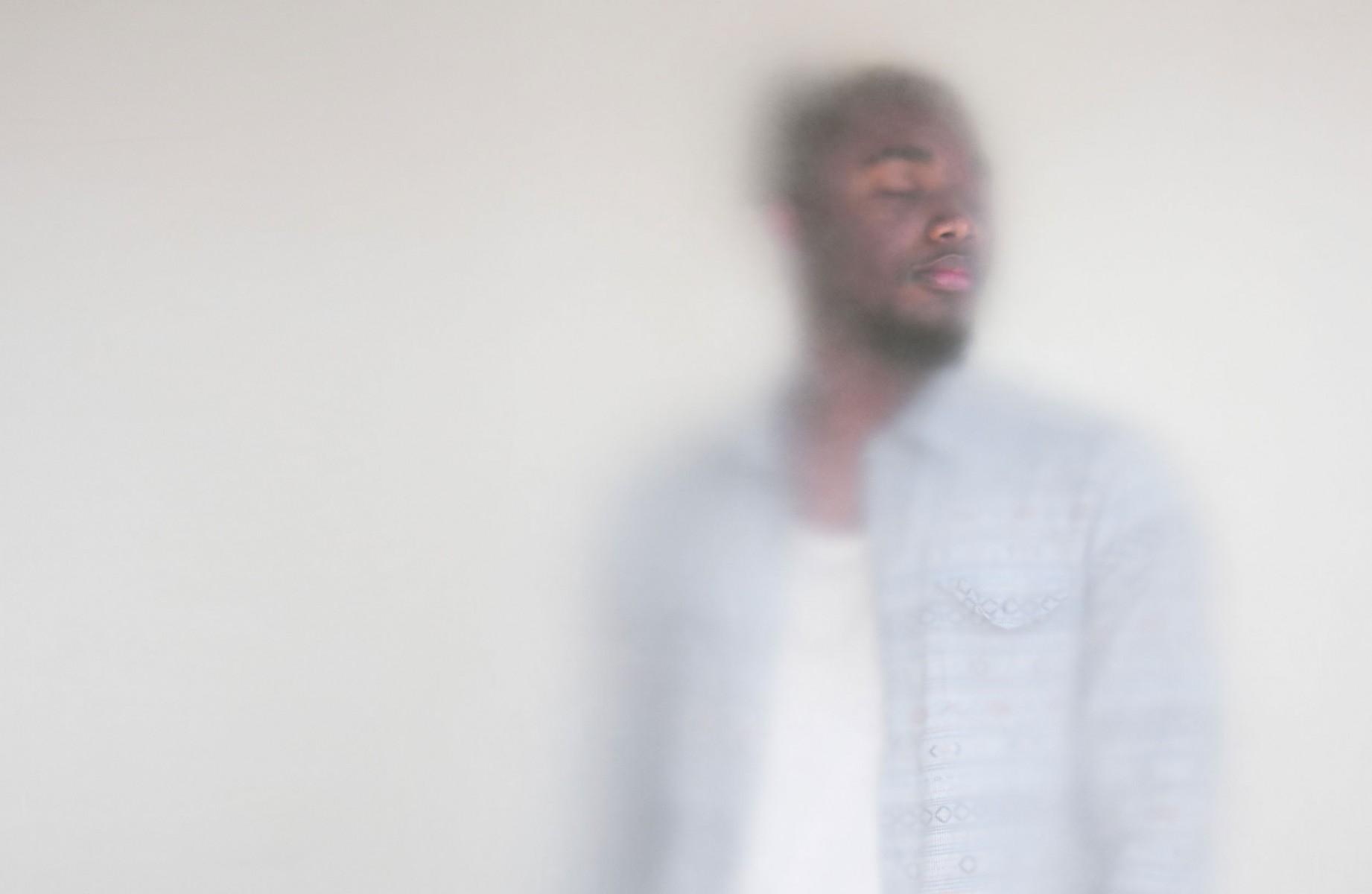 A man in a light blue shirt