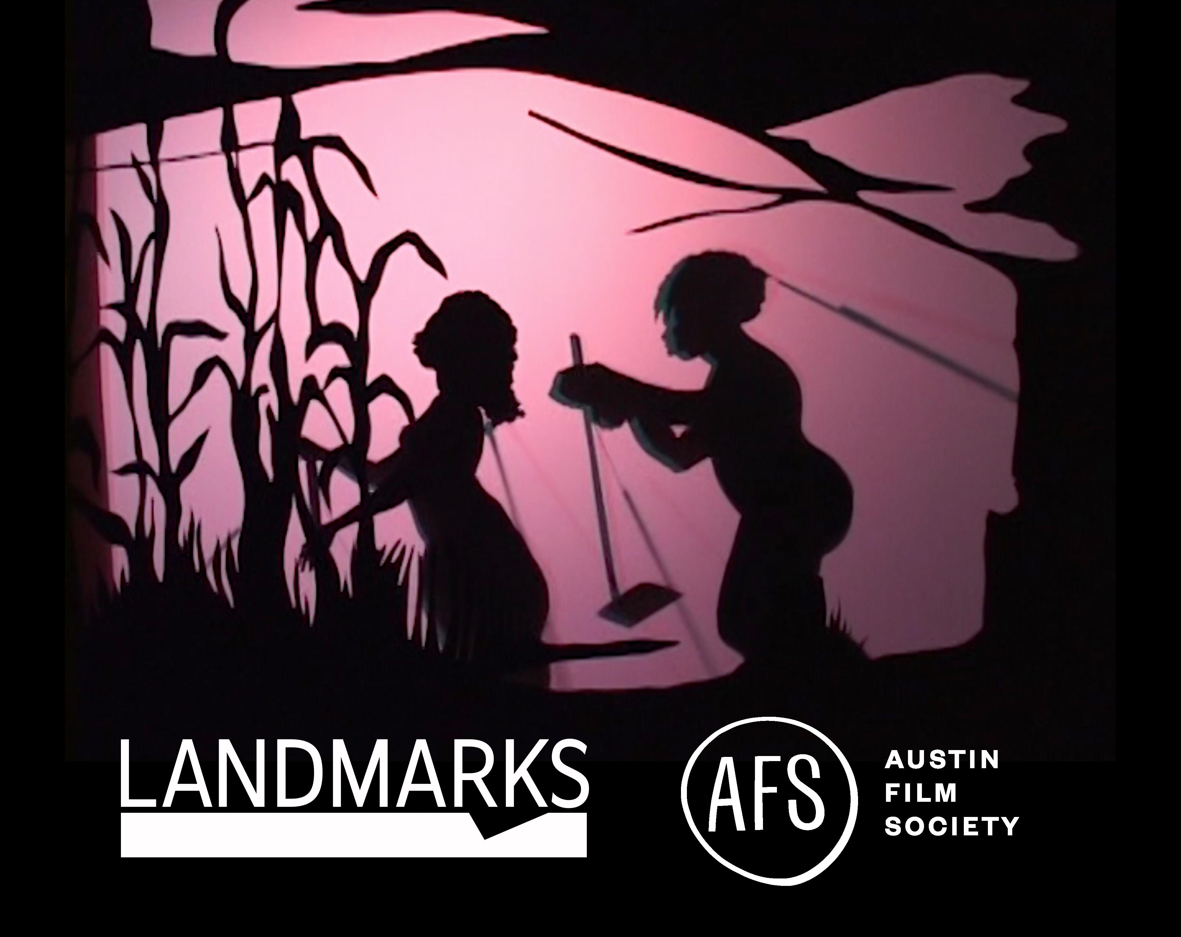 Kara Walker Still with Landmarks and AFS Logos