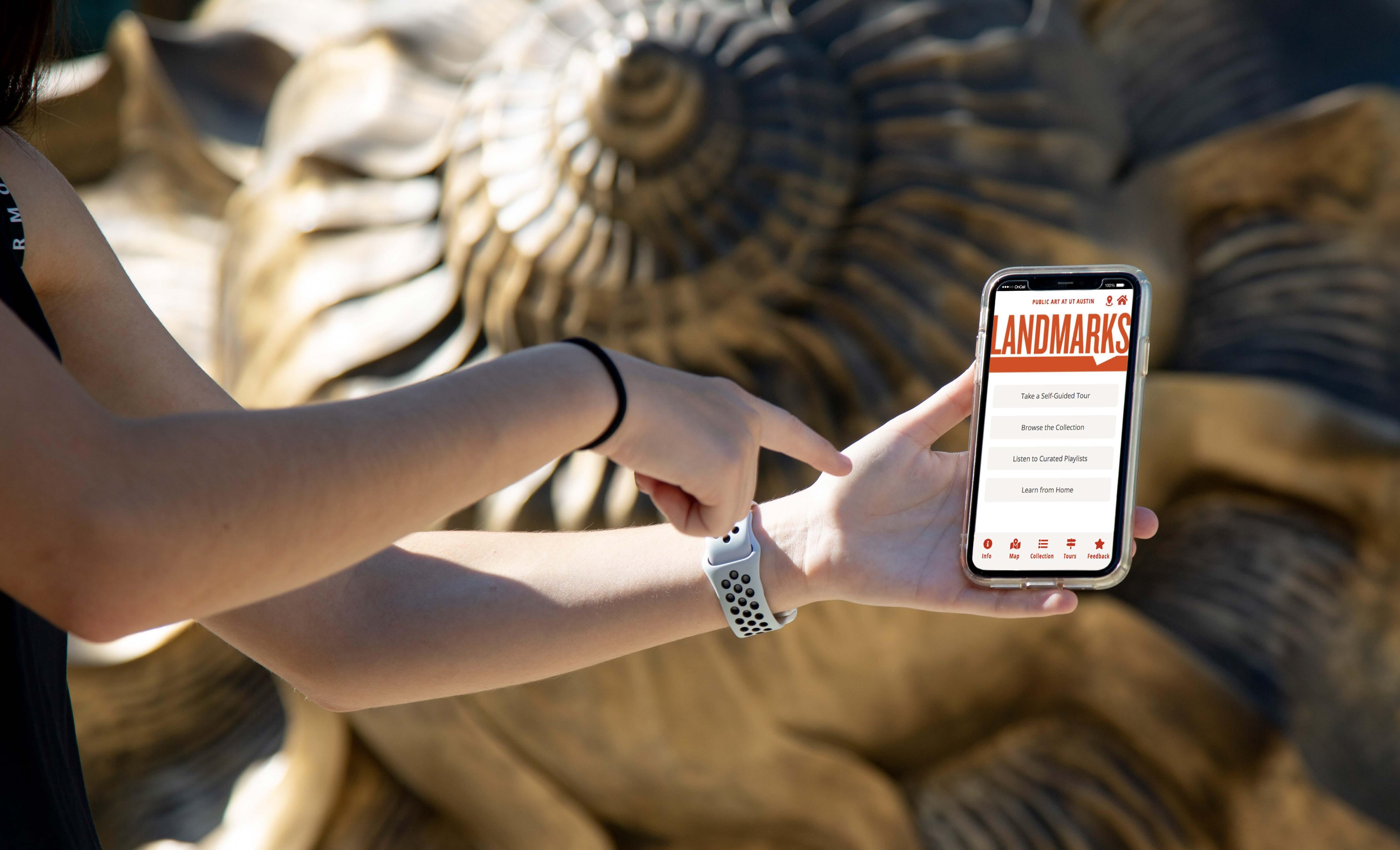 University of Texas Landmarks - Represents appmockup homepagetout v3