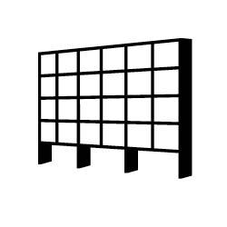 silhouette of building facade