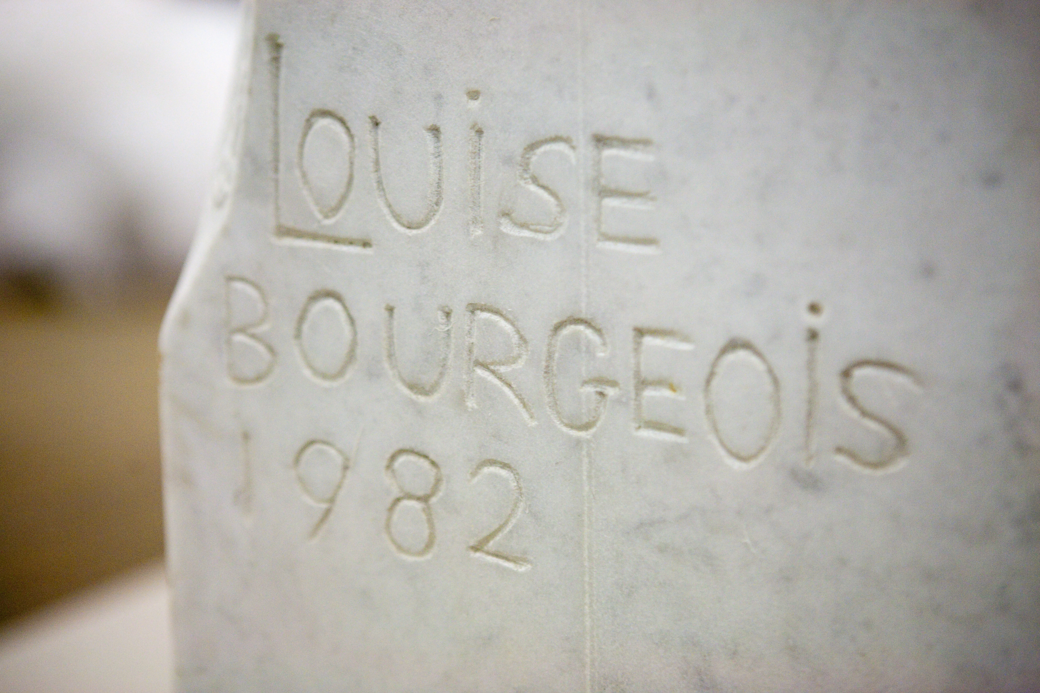 A detail of Louise Bourgeois' sculpture