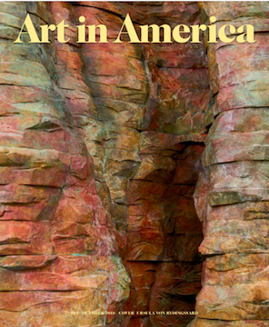 Cover of October issue of Art in America