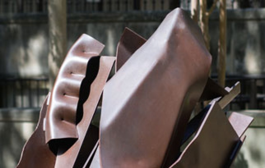 Detail of abstract metal sculpture