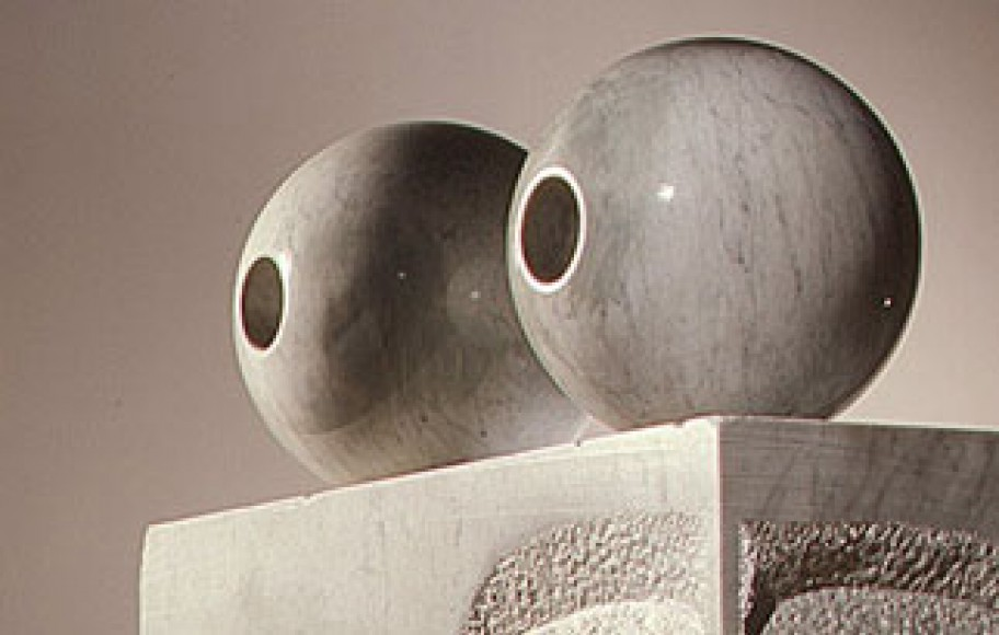 Detail of marble sculpture of eyes