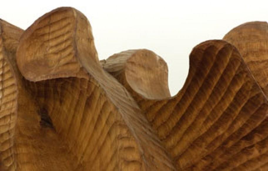 detail of wood sculpture