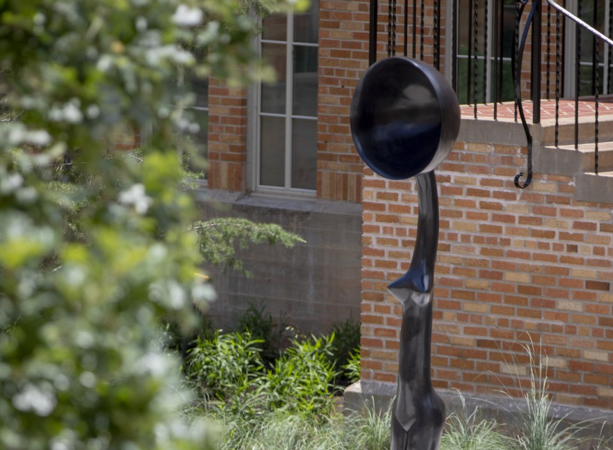 """An image of Simone Leigh's """"Sentinel IV"""" in the Anna Hiss Gymnasium Courtyard."""