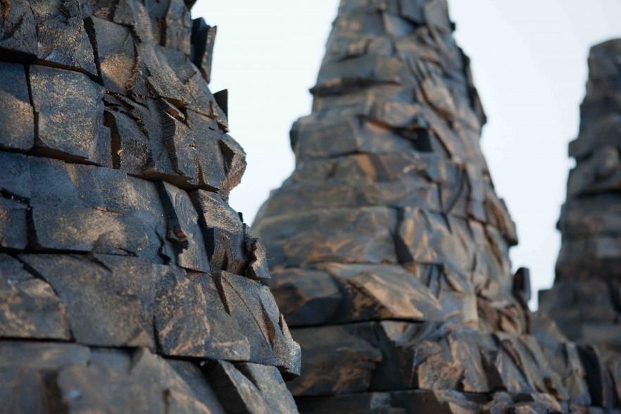 detail of wooden sculpture