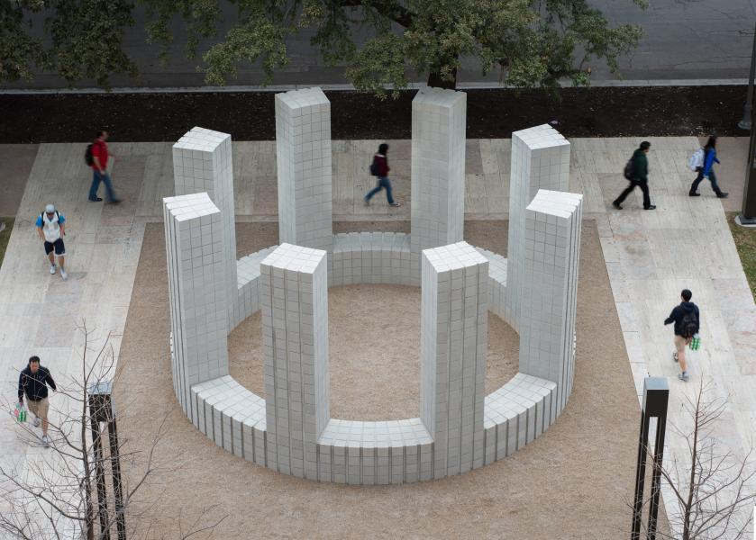 University of Texas Landmarks - Represents 01 lewitt circlewithtowers web markmenjivar t?itok=TFhtLBZk