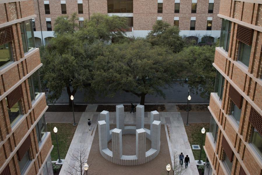 University of Texas Landmarks - Represents 02 LeWitt CircleWithTowers PhotoBySandyCarson%20copy?itok=TF2VKGXA