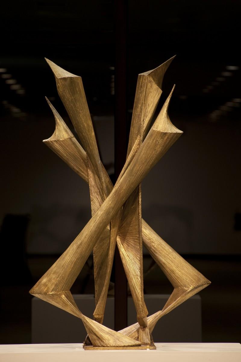 A gold sculpture