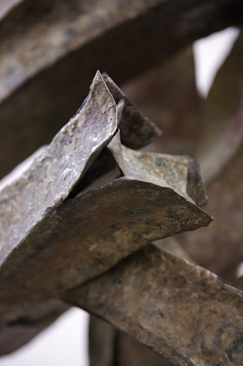 Close up of edges of sculpture