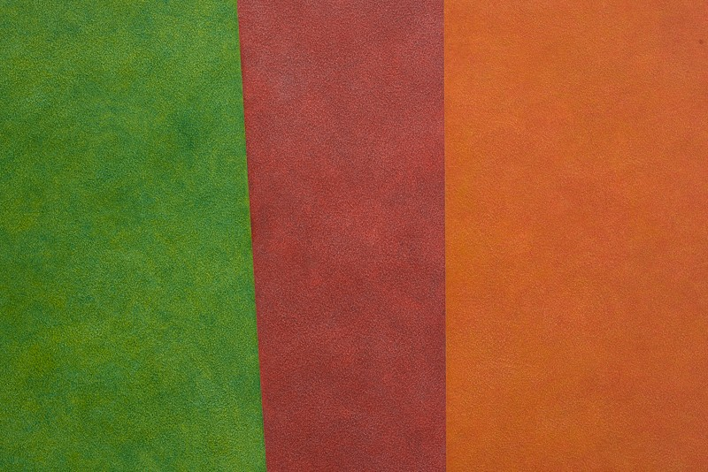 three sections of color