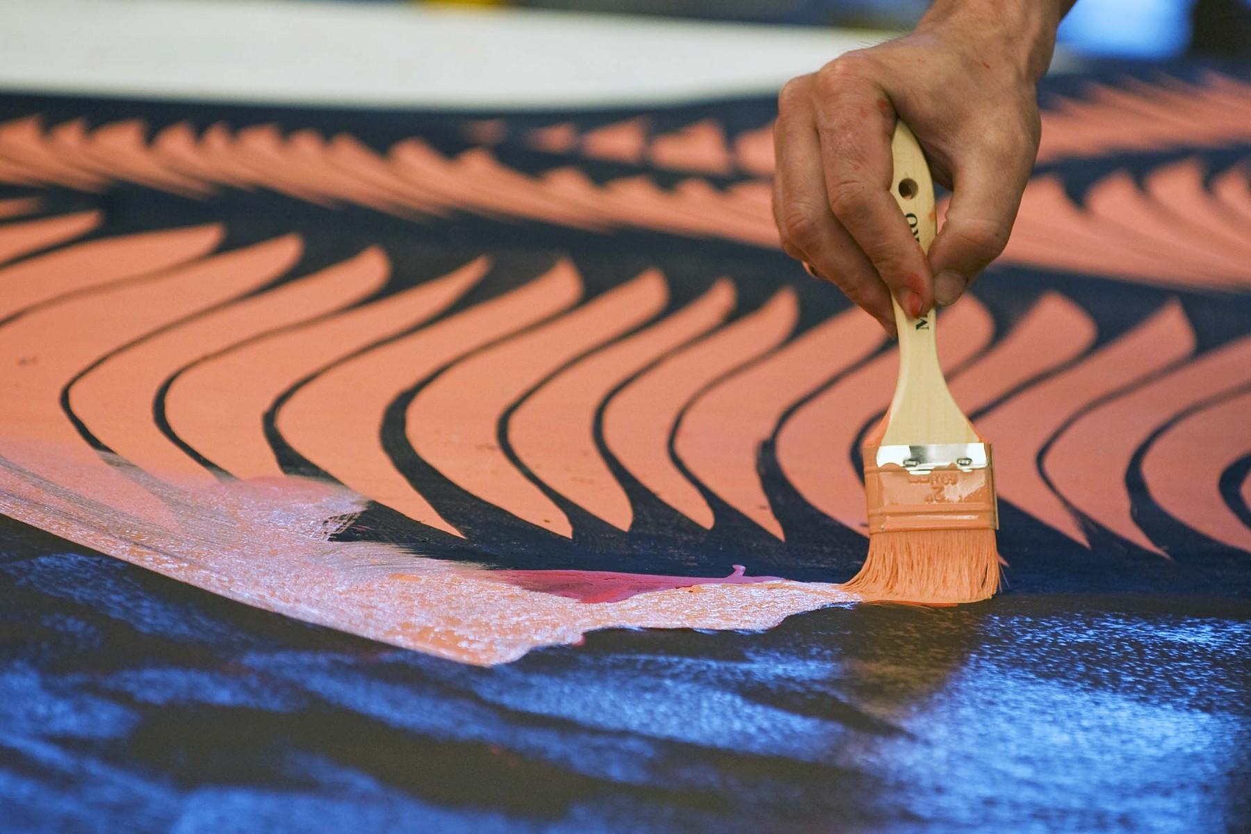 paintbrush against surface