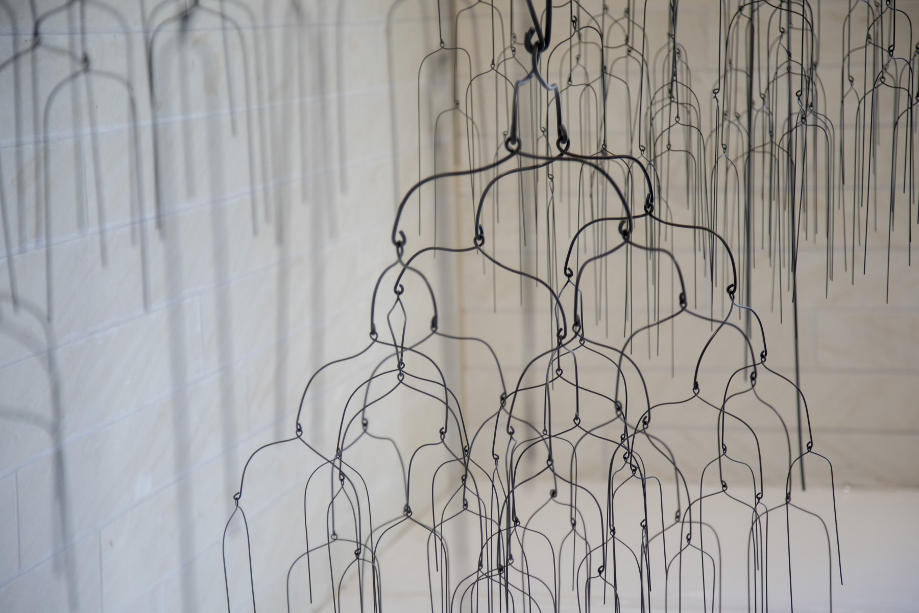 mobile made of wire