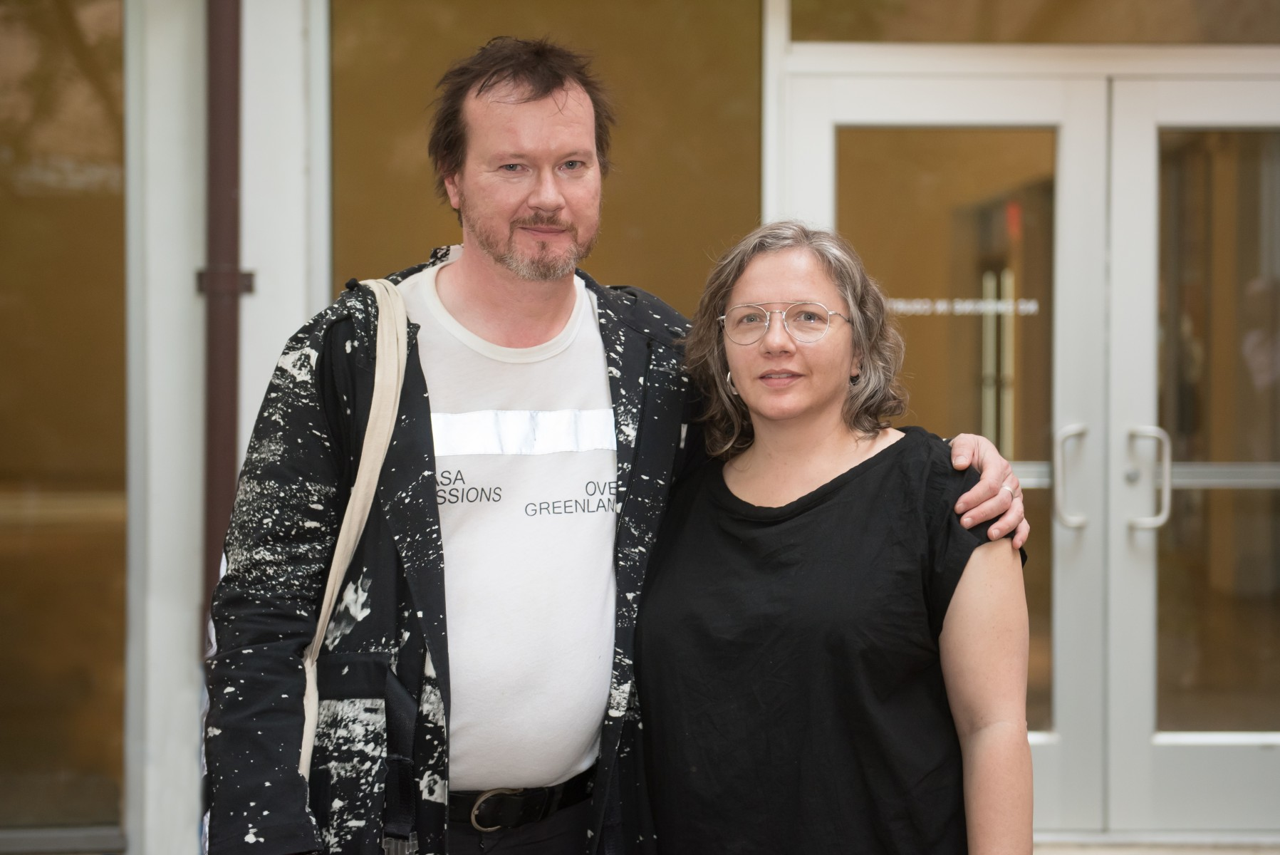 photo of Beth Campbell and Timothy Morton