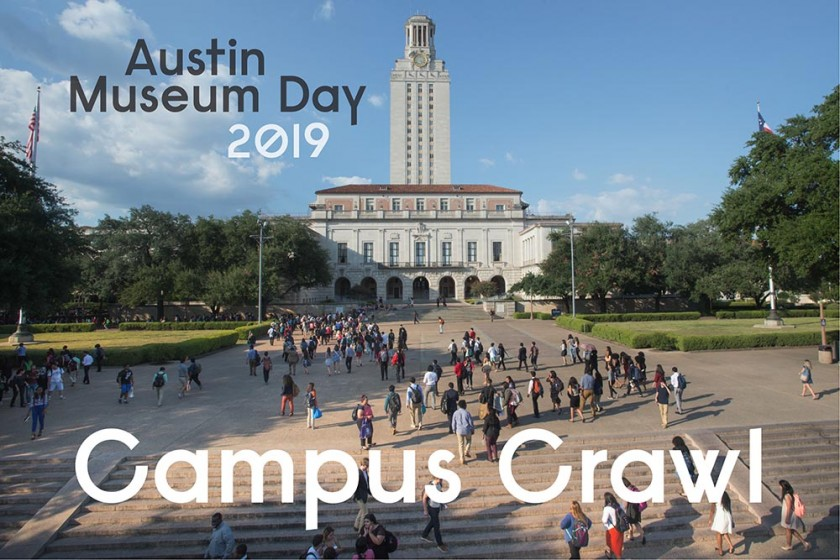 Austin Museum Day Campus Crawl Graphic